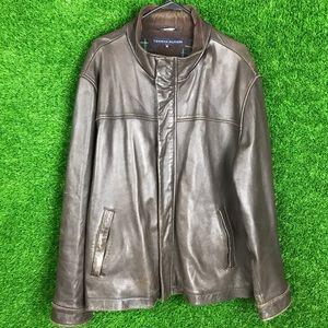 Tommy Hilfige Leather Inside Corduroy Plaid Jacket